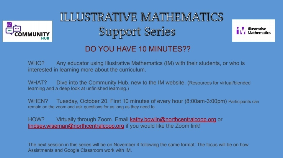 Illustrative Mathematics Support Series