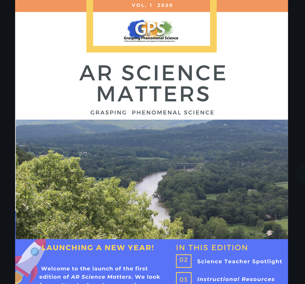 Cover: Arkansas Science Matters Newsletter